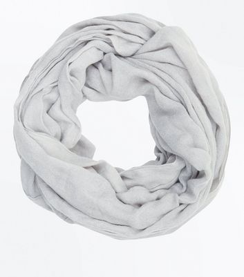 Grey Fine Knit Snood New Look
