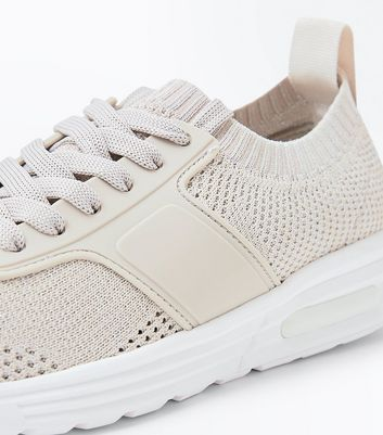 Stone Knit Texture Running Trainers New Look