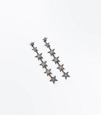 Metallic Diamante Star Shoulder Duster Earrings New Look