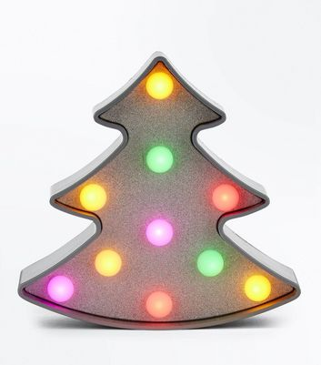Silver Mini Christmas LED Light New Look