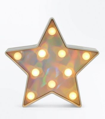 Silver Star LED Light New Look