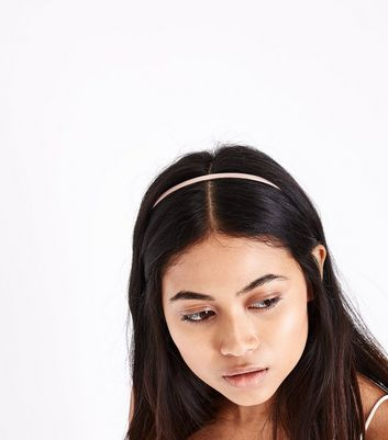 3 Pack Coloured Skinny Hair Bands New Look