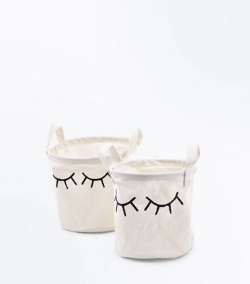 2 Pack White Eyelash Bags New Look