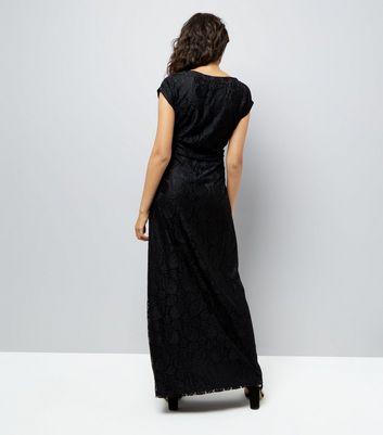 Mela Black Lace Maxi Dress New Look