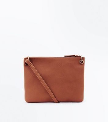Tan Ring Side Cross Body Bag New Look