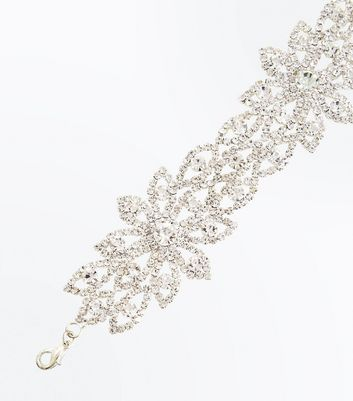 Silver Diamante Bracelet New Look