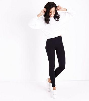 Black Fleece Lined Leggings New Look