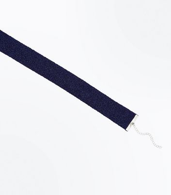 Collier choker bleu brillant