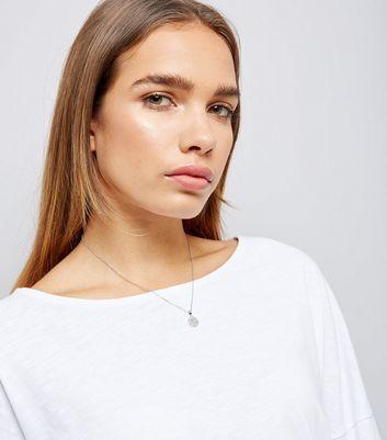 Silver Diamante Pendant Necklace New Look