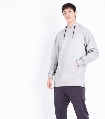 Light Grey Pocket Front Hoodie New Look