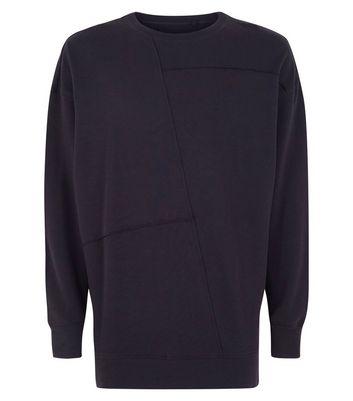 Black Seam Detail Sweatshirt New Look