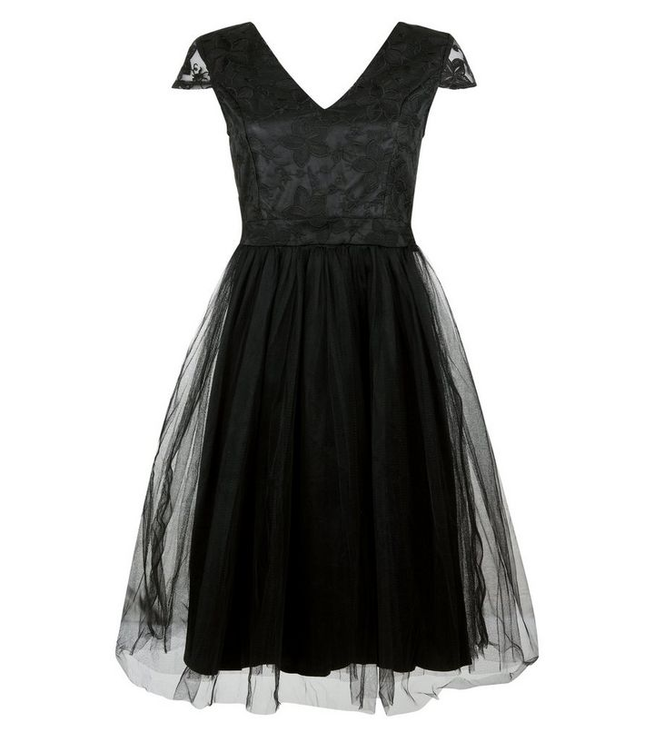 d3d549e2569 ... Mela Black Lace and Tulle Skirt Prom Dress. ×. ×. ×. Shop the look