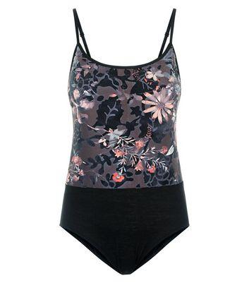 Cameo Rose Floral Burnout Print Bodysuit New Look