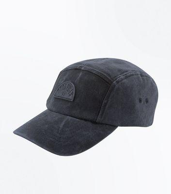 Black Acid Wash Good Vibes Cap New Look