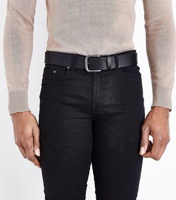 Black Leather Look Belt New Look