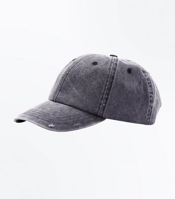 Grey Washed Cap New Look