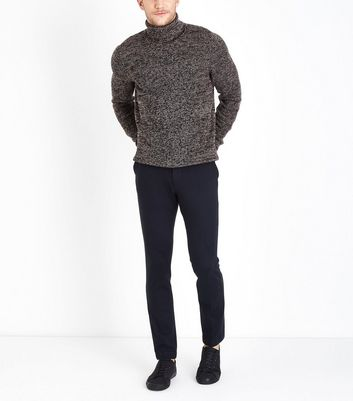 Plum Stitch Roll Neck Jumper New Look