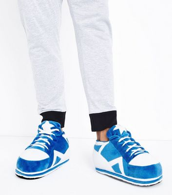 Bright Blue Trainer Slippers New Look