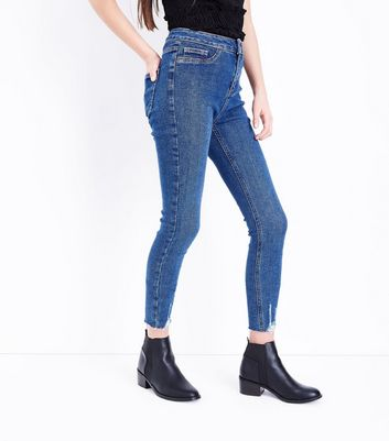 Teens Navy High Rise Skinny Jeans New Look