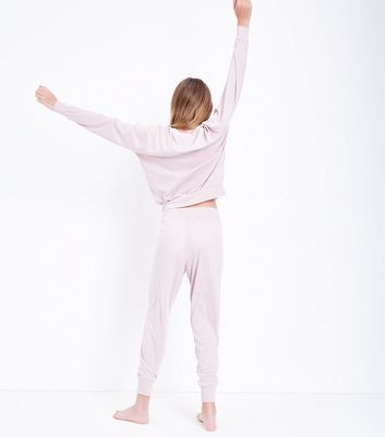 Teens Pink Dream Big Slogan Pyjama Set New Look