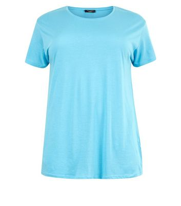 Curves Turqoise Oversized T-Shirt New Look