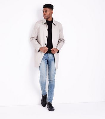 Blue Twisted Seam Skinny Jeans New Look