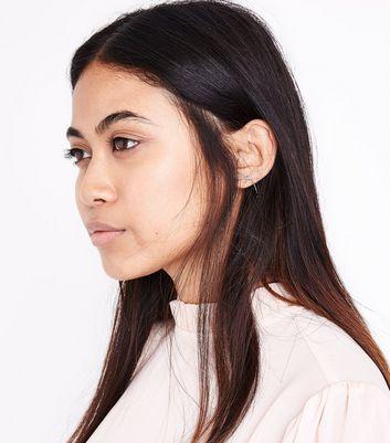 Silver Wire Bow Stud Earrings New Look