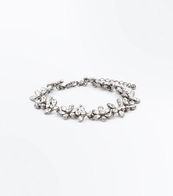 Flower Stones Crystal Bracelet New Look