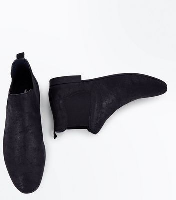 Black Pointed Toe Chelsea Boots New Look