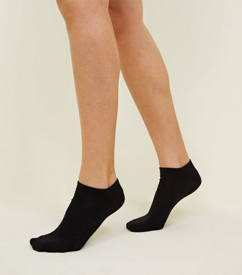 buy black trainer socks womens