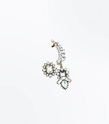 Gold Vintage Crystal Earcuff New Look