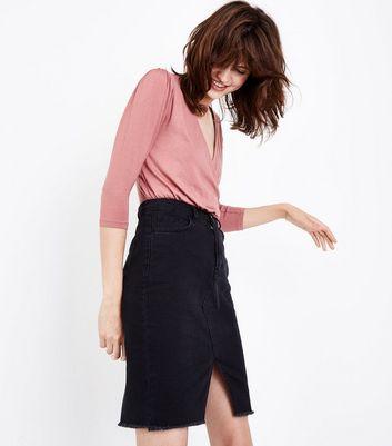 Pink Wrap Front Bodysuit New Look