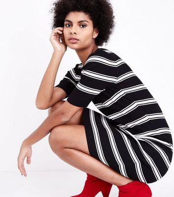 Tall Black Stripe Jumper Dress New Look