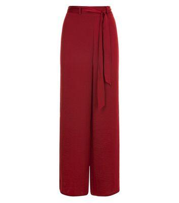 Rust Satin Wide Leg Pyjama Trousers New Look