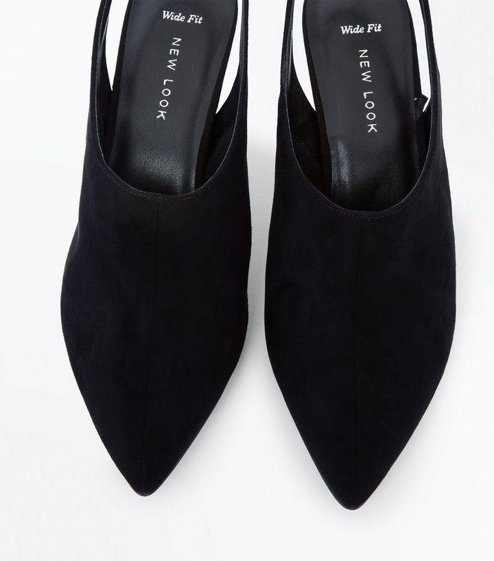 e3a4d9a935a Home · Wide Fit Black Suedette Slingback Shoe Boots. ×. ×. ×. Shop the look