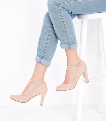 Nude Comfort Flex Suedette Ankle Strap Courts New Look