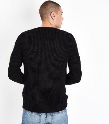 Black Loose Knit Jumper New Look