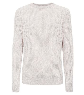 Stone Loose Knit Jumper New Look