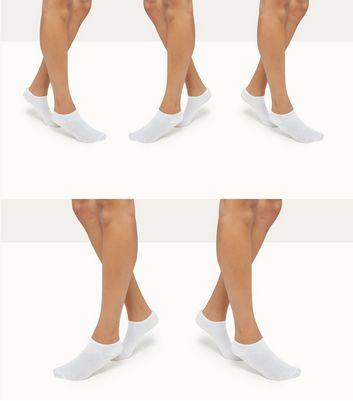 5 Pack White Trainer Socks New Look