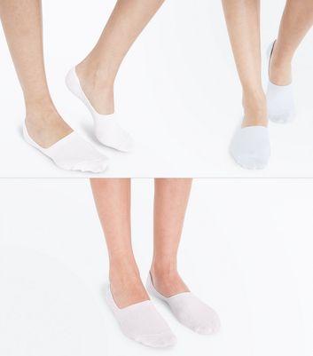 3 Pack Blue Pop Socks New Look