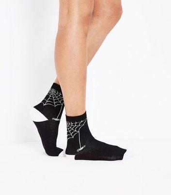 Black Spider Web Socks New Look