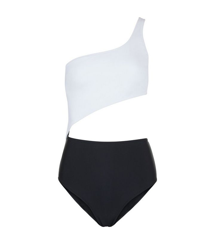 1ca8faca6 ... Monochrome One Shoulder Cut Out Swimsuit. ×. ×. ×. Shop the look