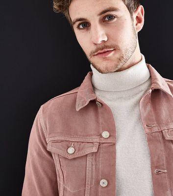 Pale Pink Denim Jacket New Look