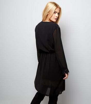 Mela Black Floral Embroidered Dress New Look