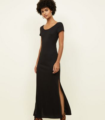 Black Cross Back Maxi Dress