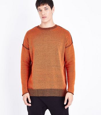 Red Reverse Knit Jumper New Look