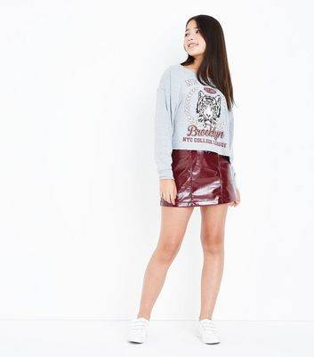 Teens Grey New York Slogan Sweatshirt New Look