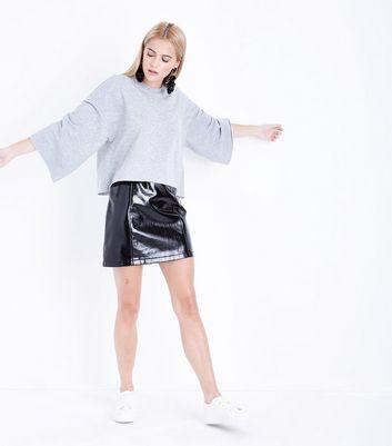 Mid Grey Wide Sleeve Sweatshirt New Look