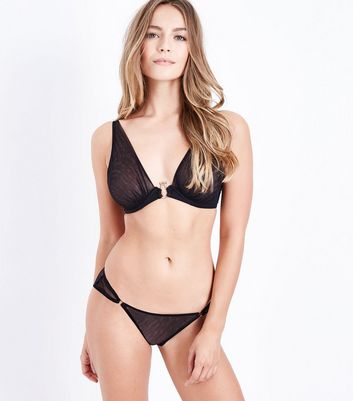 Black Sheer Bra New Look