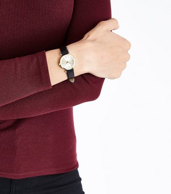 Black Analogue Mini Dial Watch New Look